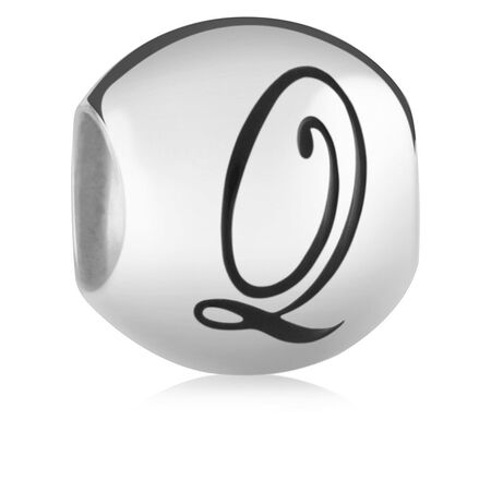 Sterling Silver 'Q' Charm