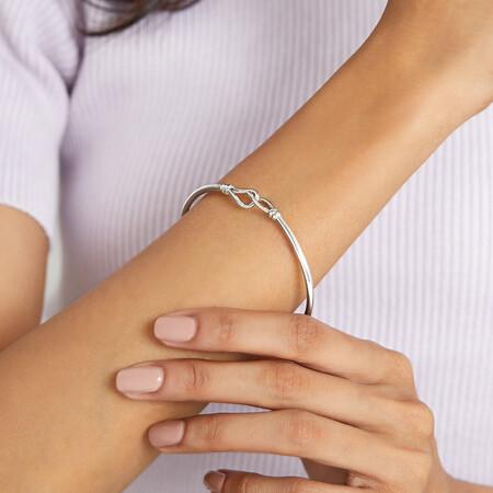 Twist Loop Bangle in Sterling Silver