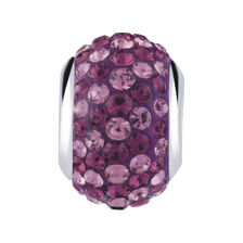 Two-Tone Purple Crystal Charm