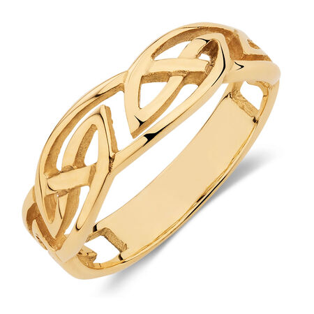 Celtic Ring in 10kt Yellow Gold
