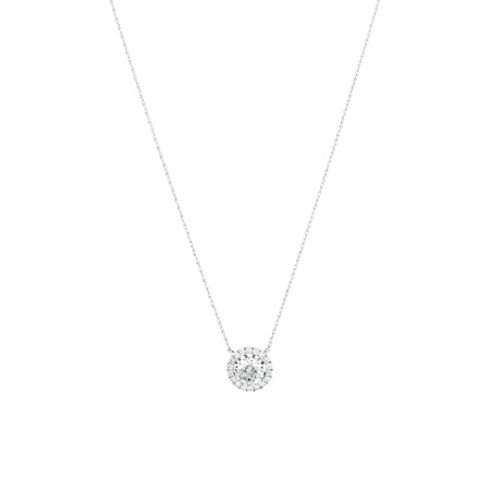 Laboratory-Created 1.25 Carat TW Diamond Necklace in 10ct White Gold