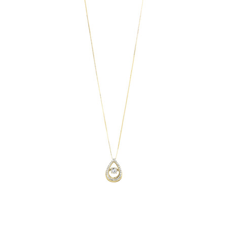 Everlight Pendant with 0.17 Carat TW of Diamonds in 10kt Yellow Gold