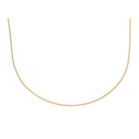 """45cm (18"""") Curb Chain in 10kt Yellow Gold"""