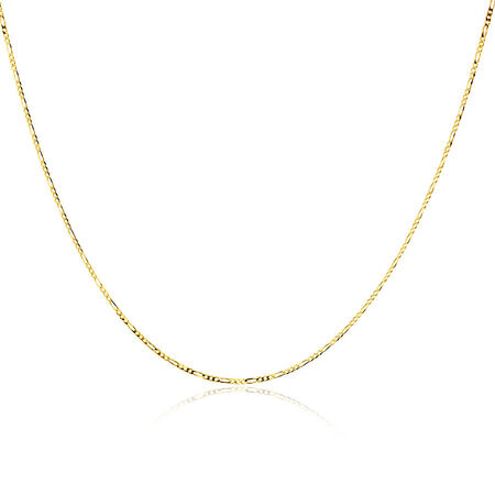 """50cm (20"""") Solid Figaro Chain in 10kt Yellow Gold"""