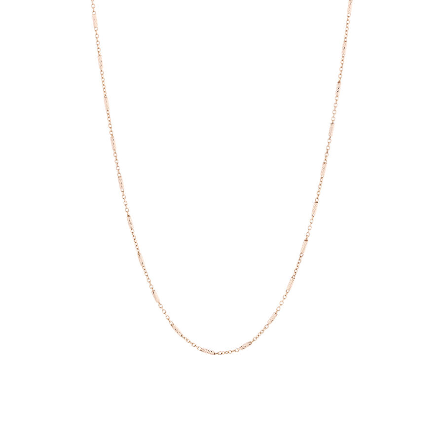Square Barrel Chain in 10kt Rose Gold