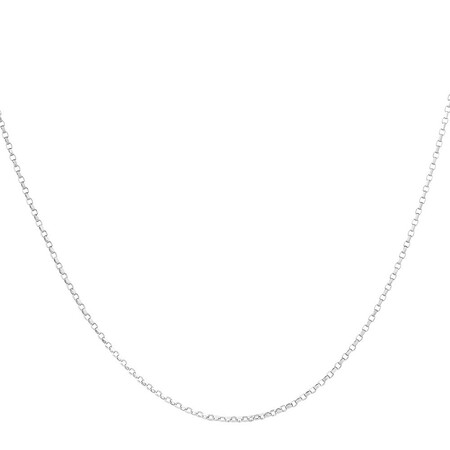 "55cm (22"") Rolo Chain in 10kt White Gold"