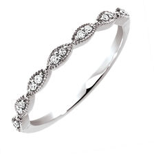 Wedding Band with Diamonds in 10kt White Gold