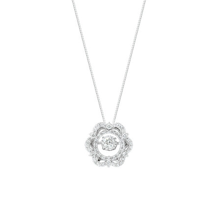 Everlight Pendant with 3/8 Carat TW of Diamonds in 10kt White Gold