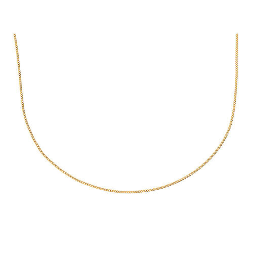 """40cm (16"""") Curb Chain in 10kt Yellow Gold"""