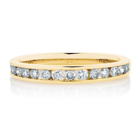 Wedding Band with 1/2 Carat TW of Diamonds in 14kt Yellow Gold