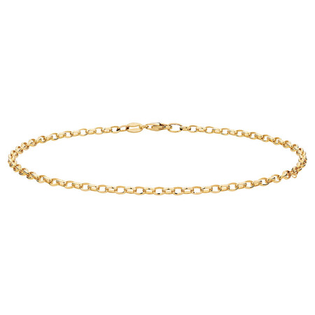 "27cm (11"") Rolo Anklet in 10kt Yellow Gold"