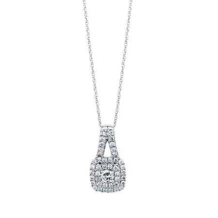 Michael Hill Designer Arpeggio Pendant with 1 Carat TW of Diamonds in 14kt White & Rose Gold
