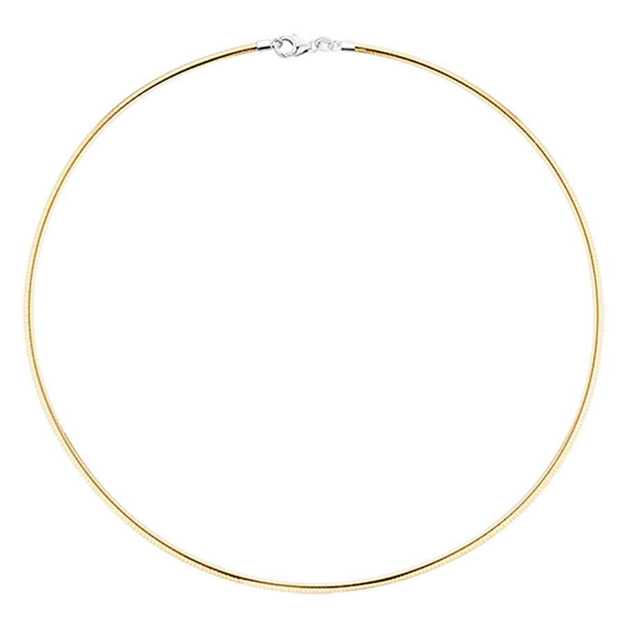 """45cm (18"""") Solid Chain in 10kt Yellow & White Gold"""