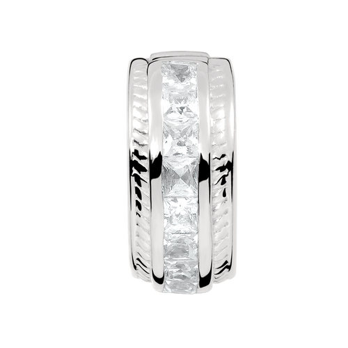Cubic Zirconia & Sterling Silver Patterned Stopper