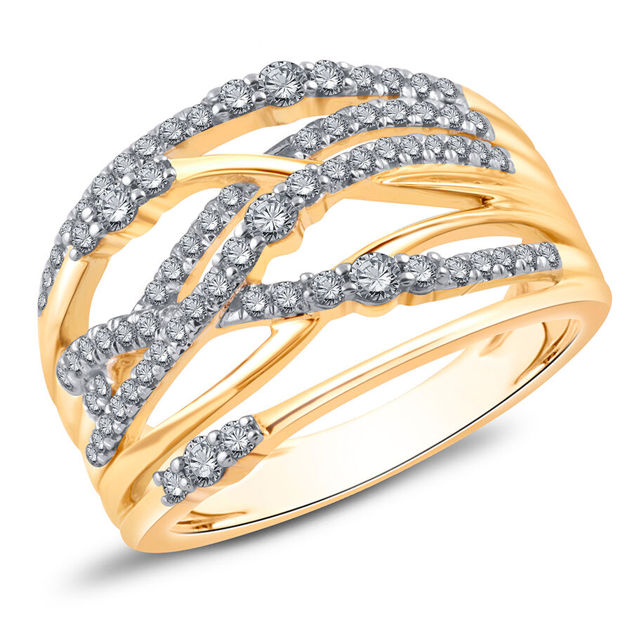 Crossover Ring with 0.50 Carat TW of Diamonds in 10kt Yellow Gold
