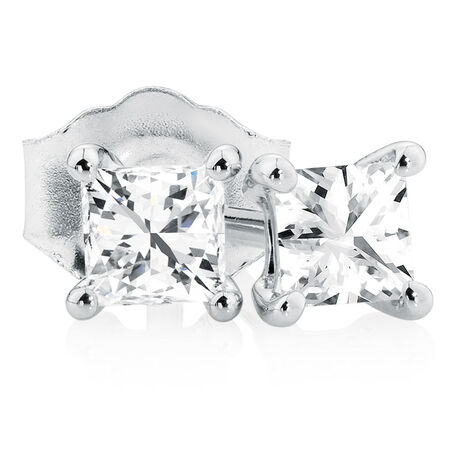 Classic Stud Earrings with 0.30 Carat TW of Diamonds in 10kt White Gold