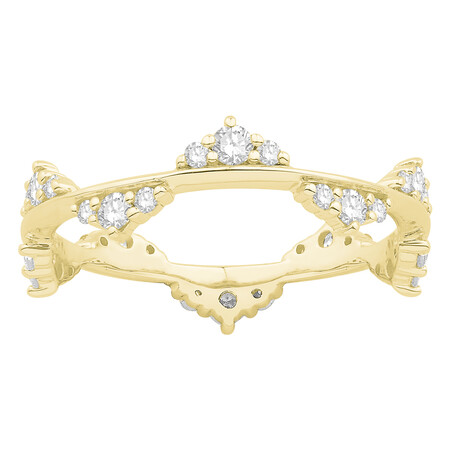 Ring with 0.50 Carat TW of Diamonds in 10kt Yellow Gold