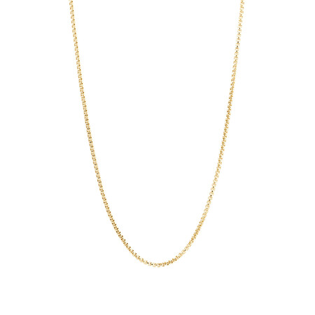 """60cm (24"""") Box Chain in 14kt Yellow Gold"""