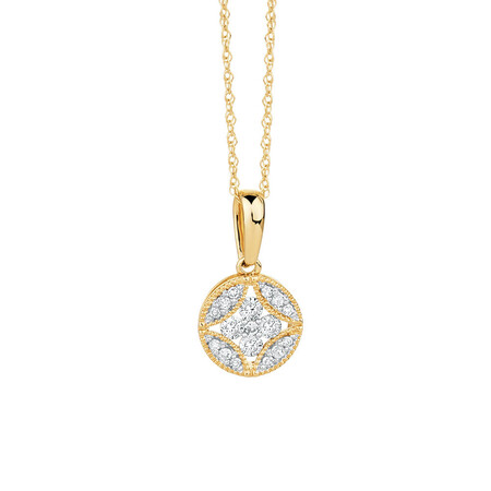 Pendant with 0.18 Carat TW of Diamonds in 10kt Yellow Gold