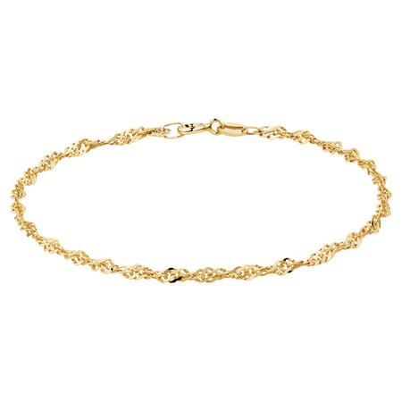 "21cm (8"") Singapore Bracelet in 10kt Yellow Gold"