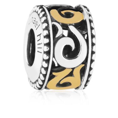 10kt Gold & Sterling Silver Swirl Charm