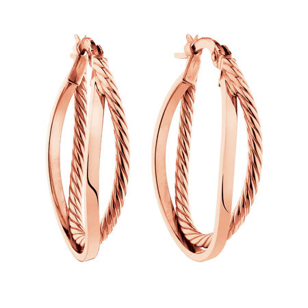 Double Hoop Earrings in 10kt Rose Gold