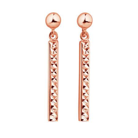 Drop Bar Earrings in 10kt Rose Gold