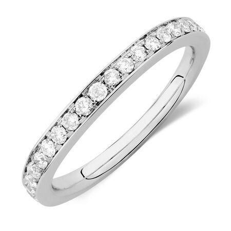 Sir Michael Hill Designer GrandAmoroso Wedding Band with 0.45 Carat TW of Diamonds in 14kt White Gold