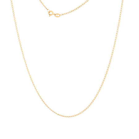 """50cm (20"""") Curb Chain in 10kt Yellow Gold"""