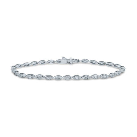 Bracelet with 1.50 Carat TW of Diamonds in 10kt White Gold
