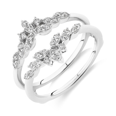 Evermore Enhancer Ring with 0.33 Carat TW Of Diamonds in 10kt White Gold