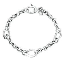Bracelet with Fancy Links in Sterling Silver