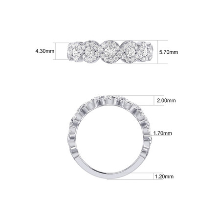 Ring with 3/4 Carat TW of Diamonds in 14kt White Gold