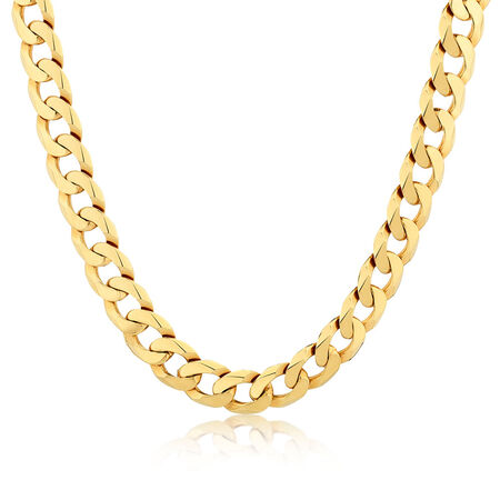 """55cm (22"""") Men's Curb Chain in 10kt Yellow Gold"""
