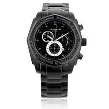 Men's Watch with 1/2 Carat TW of Diamonds in Black Stainless Steel