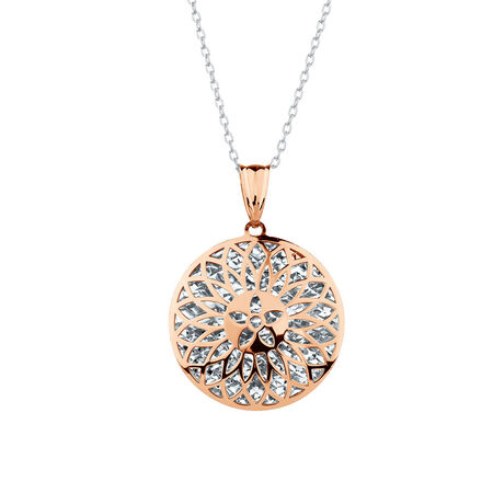 Pendant in 10kt White & Rose Gold