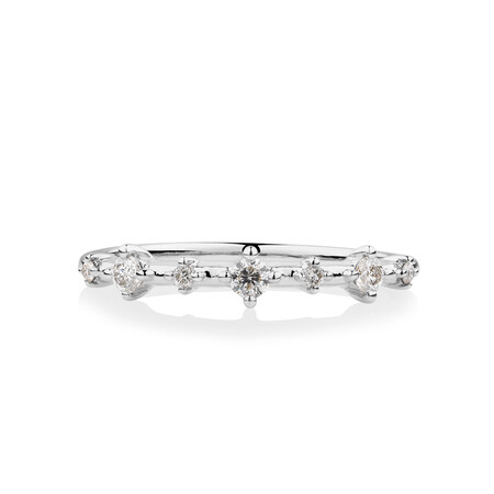 Stacker Ring with 0.20 Carat TW of Diamonds in 10kt White Gold