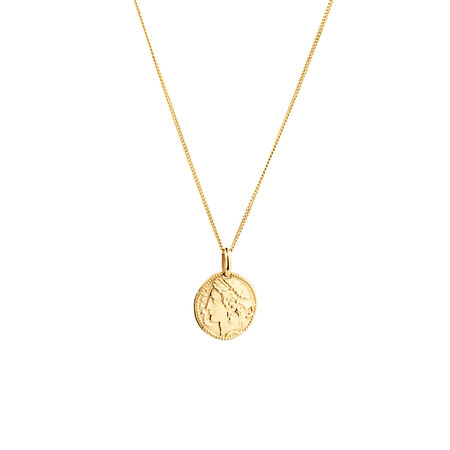 Small Coin Pendant in 10kt Yellow Gold
