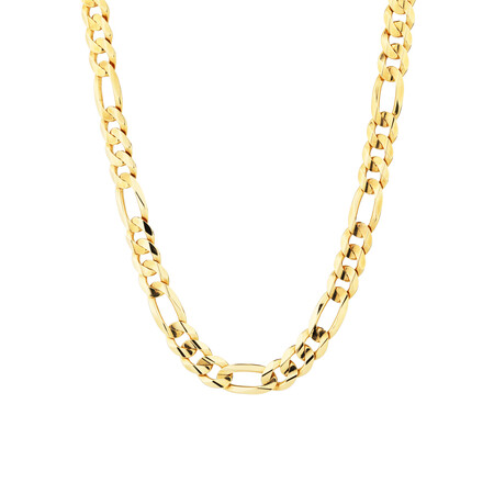 """60cm (24"""") Figaro Chain in 10kt Yellow Gold"""