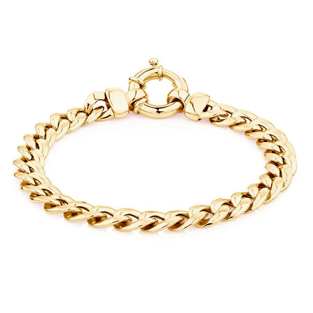 """19cm (7.5"""") Curb Bracelet in 10kt Yellow Gold"""