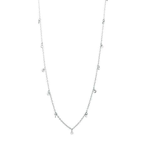Disk Necklace in Sterling Silver 45cm + 5cm