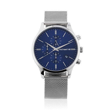 Men's Chronograph Watch in Silver Tone Stainless Steel