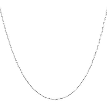 "55cm (22"") Curb Chain in 10kt White Gold"