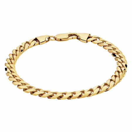 Flat Curb Bracelet in 10kt Yellow Gold