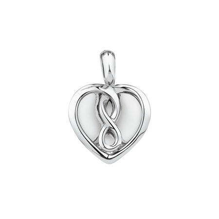 Infinitas Enhancer Pendant in Sterling Silver