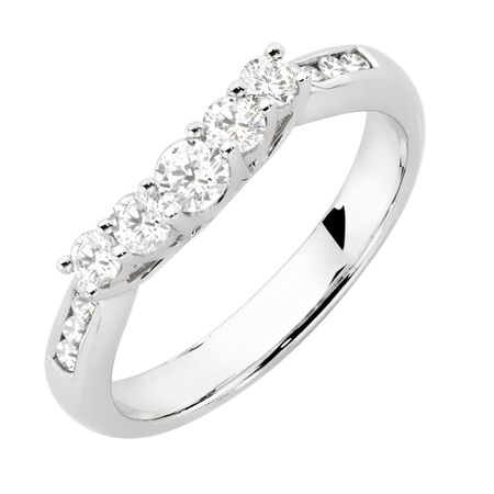 Evermore Wedding Band with 1/2 Carat TW of Diamonds in 18kt White Gold