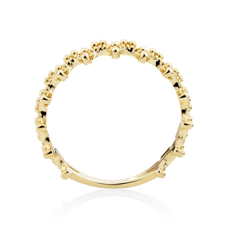 Beads Ring in 10kt Yellow Gold