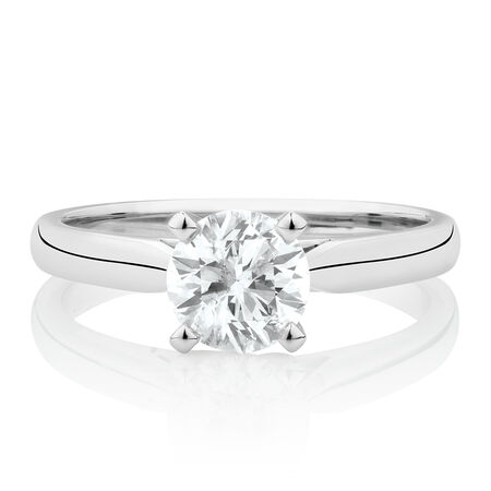 Evermore Solitaire Engagement Ring with 1 Carat TWDiamond in 14kt White Gold