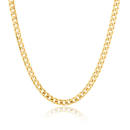 """Men's 55cm (22"""") Solid Curb Chain in 10kt Yellow Gold"""