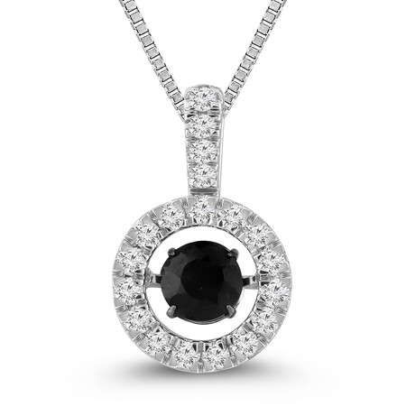Everlight Pendant with Sapphire and Diamond in 10kt White Gold